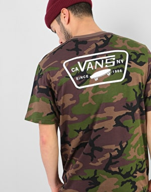Vans Full Patch Back T-Shirt - Camo/White