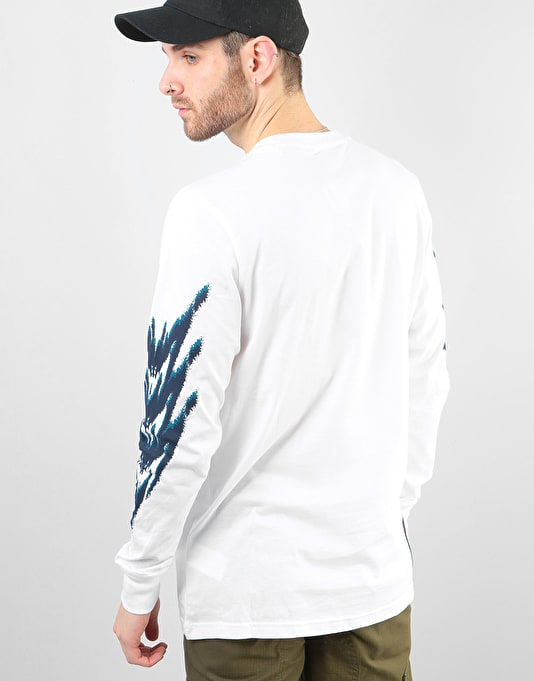 Adidas Tennis L/S T-Shirt - White/Real Teal/Tribe Purple