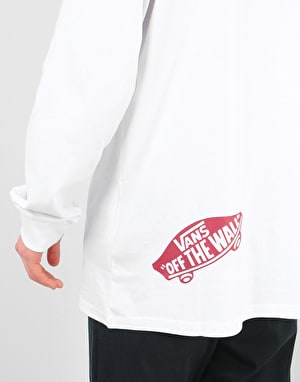 Vans Distorted L/S T-Shirt - White