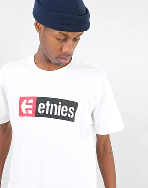 Etnies New Box T-Shirt - White/Pink
