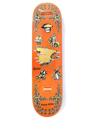 Pass Port Spain International Tea Towels Skateboard Deck - 8.125