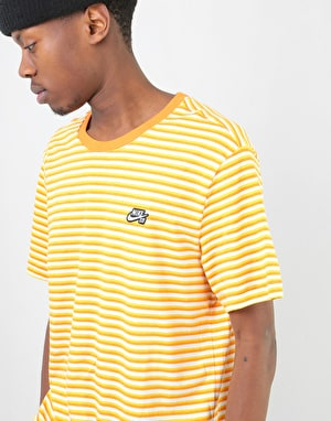 Nike SB Stripe T-Shirt -  White/Cinder Orange/White