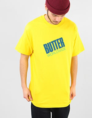 Butter Goods Tilt Logo T-Shirt - Yellow