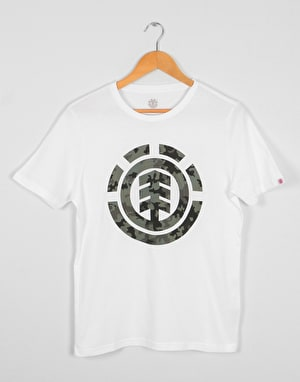 Element Bark Logo Boys T-Shirt - Optic White