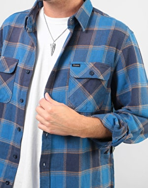Brixton Bowery L/S Flannel Shirt - Blue/Navy