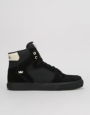 Supra Vaider Skate Shoes - Black/Off White/Black