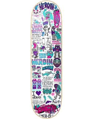 Heroin 20 Years Part III Skateboard Deck - 8.44