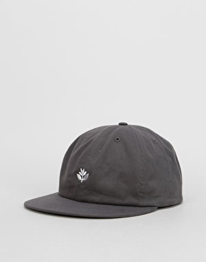 Magenta 6-Panel Cap - Dark Grey