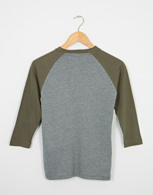 Vans OTW Boys Raglan T-Shirt - Heather Grey/ Grape Leaf