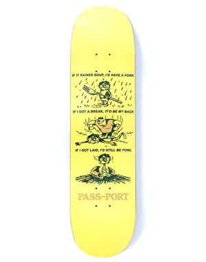 Pass Port Still Be Foul Baby Series Skateboard Deck - 8