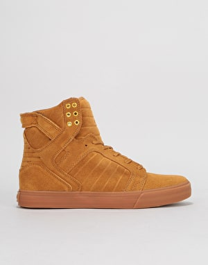 Supra Skytop Skate Shoes - Tan/Light Gum