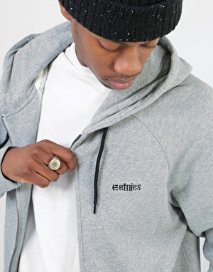 Etnies Core Icon Zip Hoodie - Grey Heather