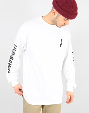 Deathwish Landmark L/S T-Shirt - White/Black