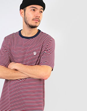 Element Striped Crew T-Shirt - Eclipse Navy