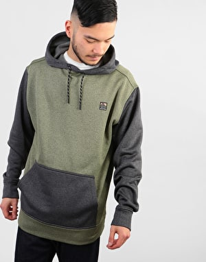 Burton Oak Pullover Hoodie - Clover Heather/True Black