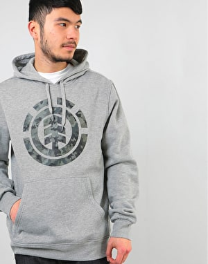 Element Bark Logo Pullover Hoodie - Grey Heather