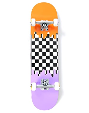 Route One Check Drip Complete Skateboard - 7.75