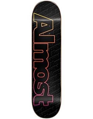 Almost Faded Outline Skateboard Deck - 8