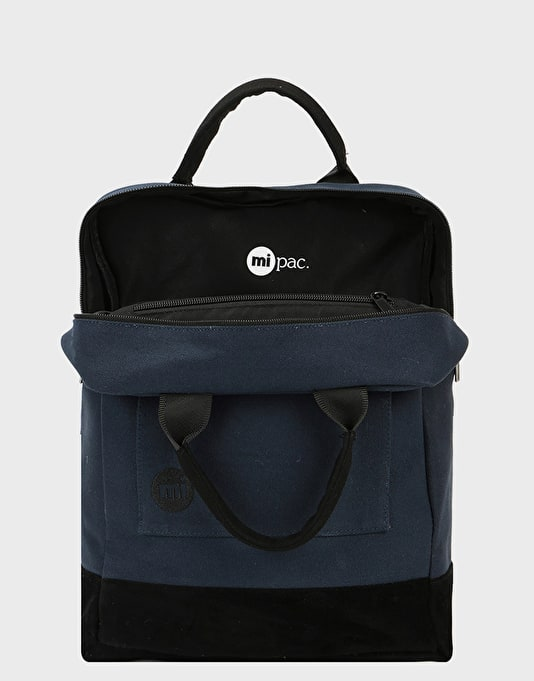 Mi-Pac Canvas Tote Backpack - Blue Black
