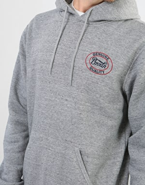 Brixton Merced Pullover Hoodie - Heather Grey