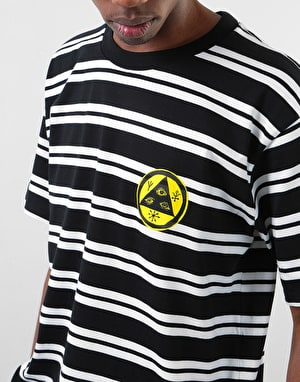 Welcome Twenty Eyes Striped T-Shirt - Black/White