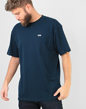 Vans Left Chest Logo T-Shirt - Navy/White
