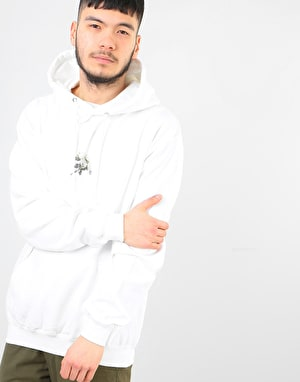 Route One Peonies OG Pullover Hoodie - Arctic White