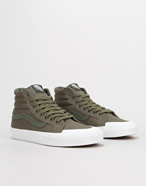 Vans Sk8-Hi Reissue 13 Skate Shoes - (Canvas) Grape Leaf/True White