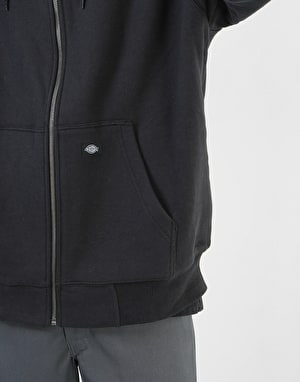 Dickies Sherpa Lined Fleece Zip Hoodie - Black