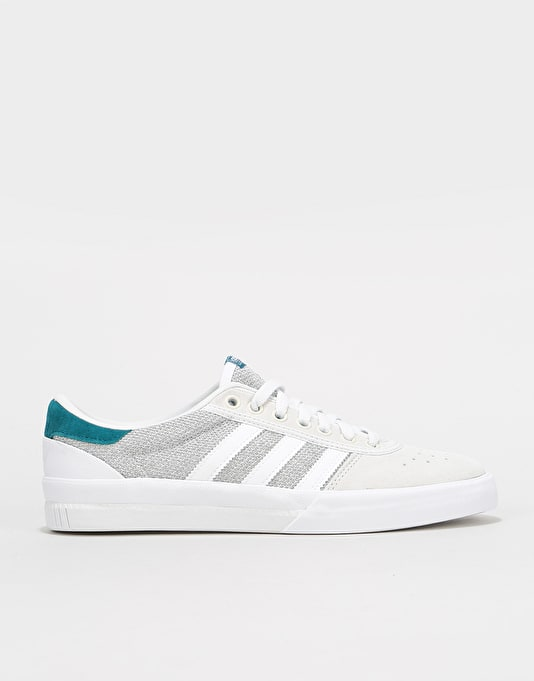 Adidas Lucas Premiere Skate Shoes - White/Solid Grey/Real Teal