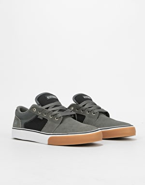 Etnies Barge LS Skate Shoes - Grey/Black/Silver
