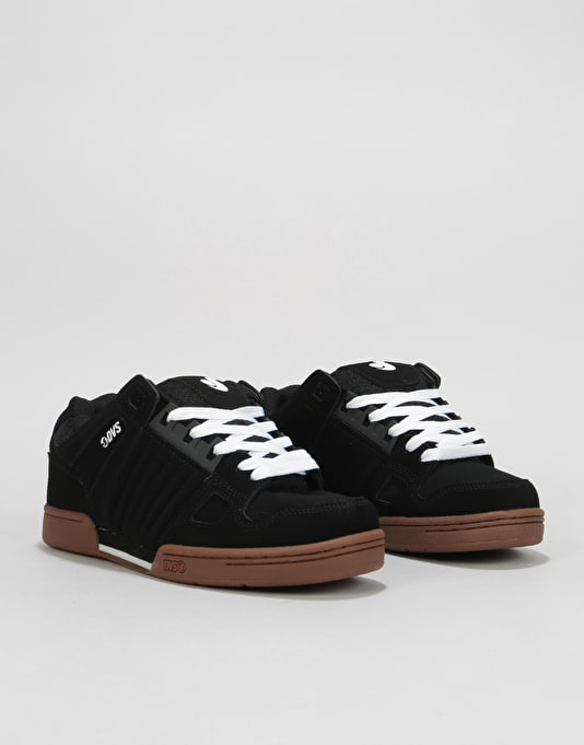 DVS Celsius (Jason Anderson) Skate Shoes - Black/White/Gum Nubuck