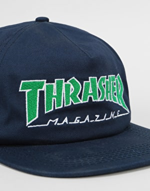 Thrasher Outlined Snapback Cap - Navy