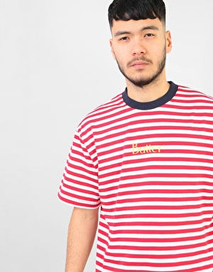 Butter Goods Classic Stripe T-Shirt - Red
