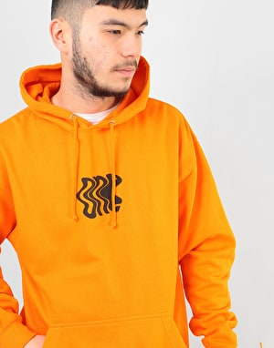 Route One Distorted Pullover Hoodie - Orange