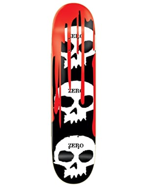 Zero 3 Skull Blood Skateboard Deck - 8.25