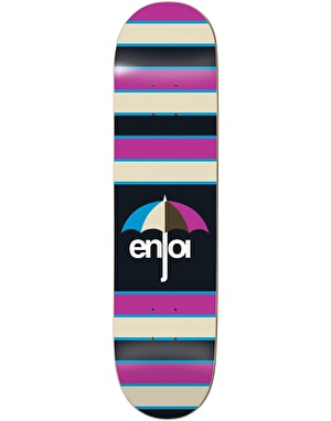 Enjoi Stripes Skateboard Deck - 8