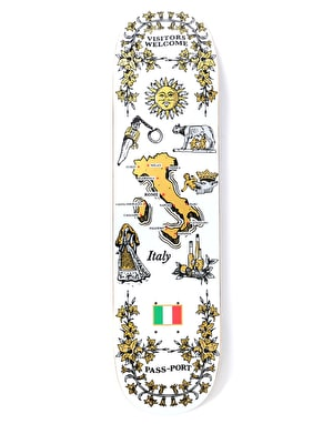 Pass Port Italy International Tea Towels Skateboard Deck - 8