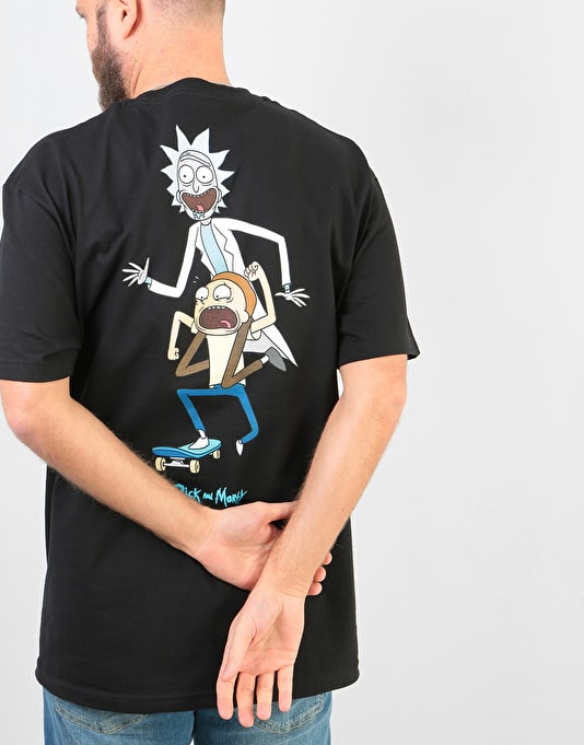 Primitive x Rick & Morty Classic P R&M Skate T-Shirt - Black