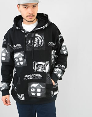 Paradise Youth Club Brain Shocking Pullover Hoodie - Black