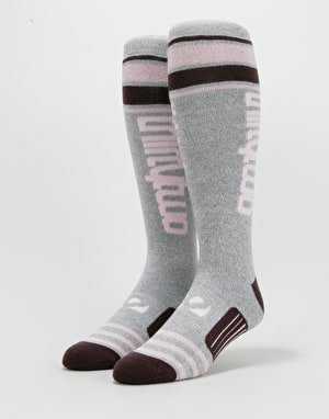 ThirtyTwo Stripe Graphic Snowboard Socks - Charcoal/Heather