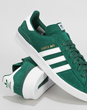 Adidas Campus ADV Skate Shoes - Collegiate Green/White/Gold Metallic