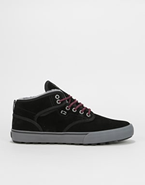 Globe Motley Mid Skate Shoes - Black/Phantom/Fur
