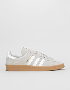 Adidas Campus ADV Skate Shoes - Grey/White/Gold Metallic