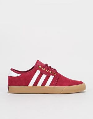 Adidas Seeley Skate Shoes - Collegiate Burgundy/White/Gold Metallic