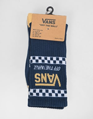 Vans Crossed Sticks Crew Socks - Dress Blues/White