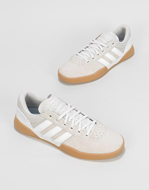 Adidas City Cup Skate Shoes - Crystal White/Chalk Pearl/Gum