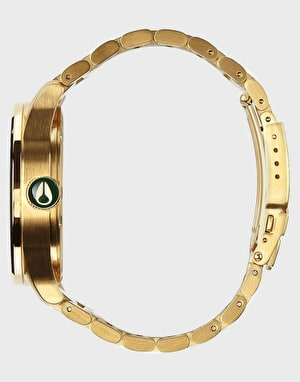 Nixon Sentry SS Watch - Gold/Green Sunray