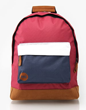 Mi-Pac Tonal Backpack - Burgundy/White/Navy