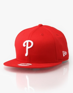 New Era MLB Philadelphia Phillies 9Fifty Snapback Cap - Red/White